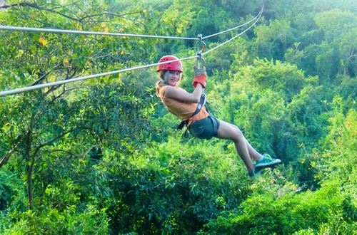 Hidden Paradise Zipline Adventure & GALVESTON CRUISES : Hidden Paradise Zipline Adventure : Excursions