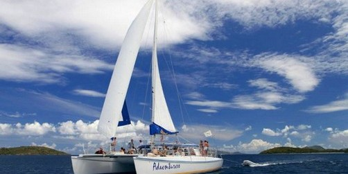 Buck Island Champagne Catamaran Sail And Snorkel St Thomas